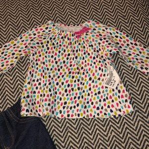 Carter's heart  2 piece set 3 months